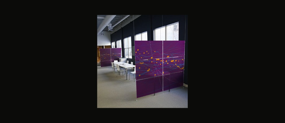 Privacy screens of laminated art glass panels