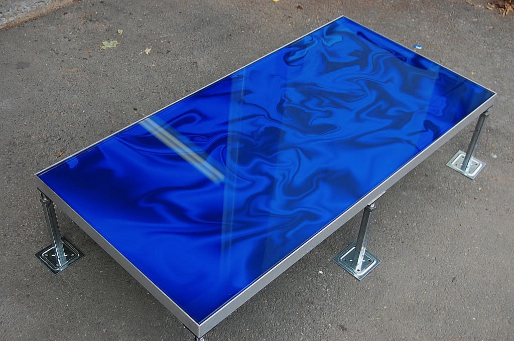 24x48 tempered glass panel floor